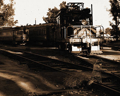 Photograph - Boy On The Tracks by Anthony Jones