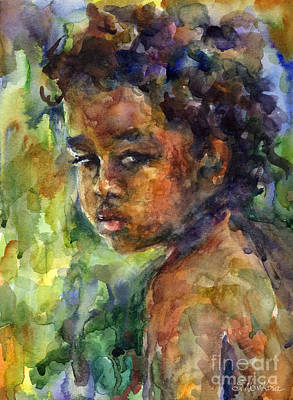 Boy Watercolor Portrait Art Print