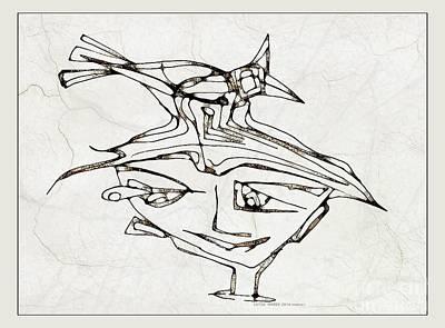 Digital Art - Boy With A Bird 3773 by Marek Lutek