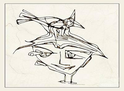 Digital Art - Boy With A Bird 3774 by Marek Lutek