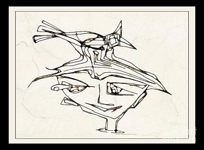 Digital Art - Boy With A Bird 3775 by Marek Lutek