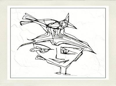Digital Art - Boy With A Bird 3777 by Marek Lutek