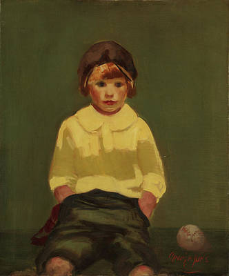 Baseball Painting - Boy With Baseball by George