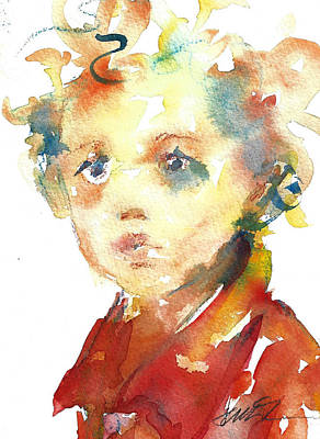 Painting - Boy With Curls by Jacki Kellum