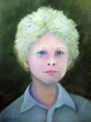 Pastel - Boy With Curly Hair by Loretta Luglio