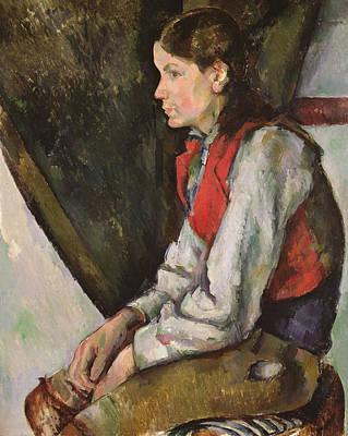 Boy With Red Waistcoat Art Print by Paul Cezanne
