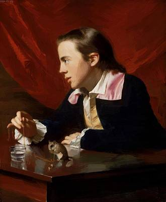 Painting - Boy With Squirrel Henry Pelham 1765 by Copley John Singleton