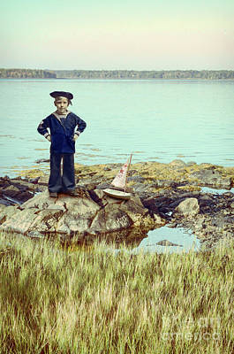 Photograph - Boy With Toy Boat by Jill Battaglia