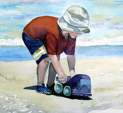 Painting - Boy With Truck by Lynne Atwood