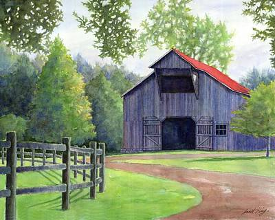 Leipers Fork Painting - Boyd Mill Barn by Janet King
