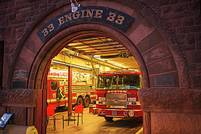 Photograph - Boylston Street Fire Station Boston Ma Engine 33 by Toby McGuire