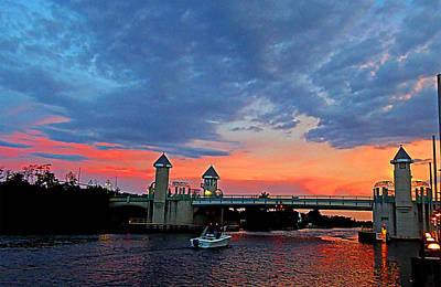 Boynton Beach Bridge Nightfall Original