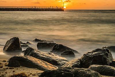 Art Print featuring the photograph Boynton Beach Sunrise by Michael Sussman