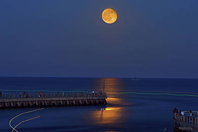 Key West Photograph - Boynton Inlet Full Moon by Ken Figurski