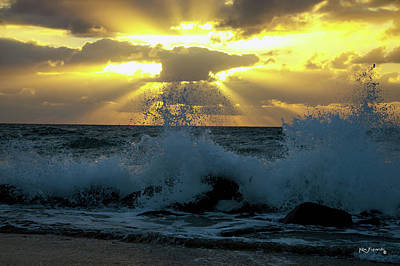 Photograph - Boynton Inlet Heavenly Sunrise And Waves by Ken Figurski