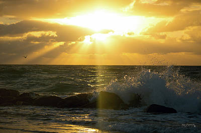 Photograph - Boynton Inlet Sunrise And Waves by Ken Figurski