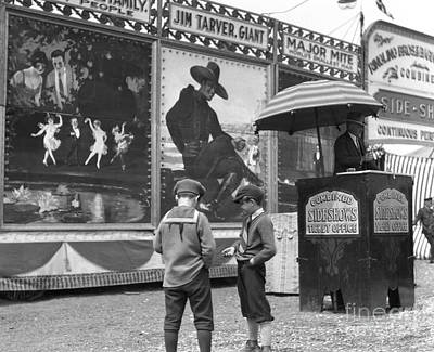 Boys At Circus Entrance, C.1920s Art Print by H. Armstrong Roberts/ClassicStock