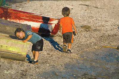 Photograph - Boys Boats And The Bay by Susan Molnar