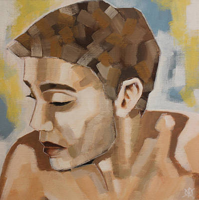 Crying Boy Painting - Boys Don't Cry by KM Male Nudes