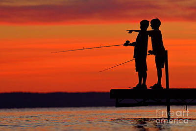 Photograph - Boys Fishing by Joshua McCullough