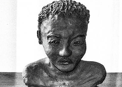 Photograph - Boy's Head In Clay by Patrick Kain