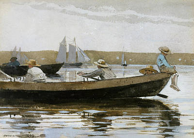 Dory Painting - Boys In A Dory by Winslow Homer