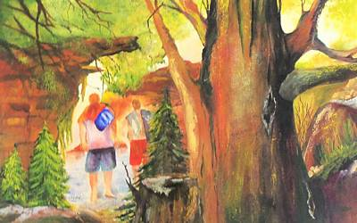 Painting - Boys In The Woods by Marsha Woods