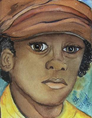African American. Folk Art Painting - Boys Of Thought 1 by Ethel Dixon