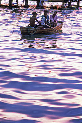 Photograph - Boys On Boat by Johnny Sandaire