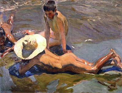 Painting - Boys On The Beach Of 1908 by Juaquin Sorolla