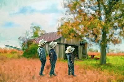Photograph - Boys On The Farm by Mary Timman