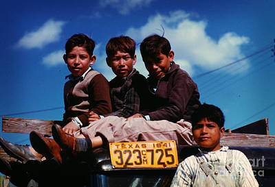 Painting - Boys Sitting On Truck Parked At The Fsa by Celestial Images
