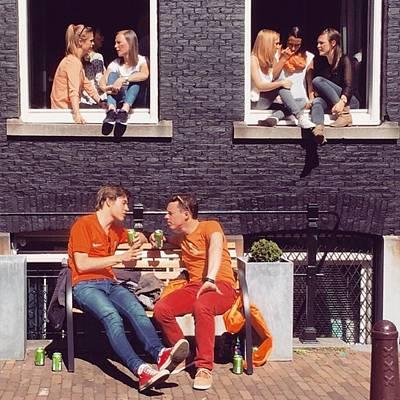 Koningsdag Photograph - Boys&girls #koningsdag #amsterdam #sky by Alessandro Parca