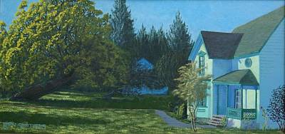 Wa Painting - Bozarth House by Ron Smothers
