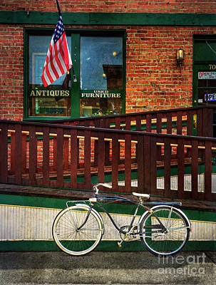 Photograph - Bozeman Antique Bicycle by Craig J Satterlee