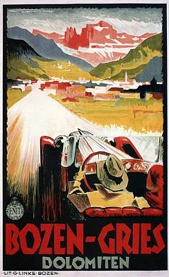 Mixed Media - Bozen-gries - Dolomiten - Bolzano-gries - Retro Travel Poster - Vintage Poster by Studio Grafiikka