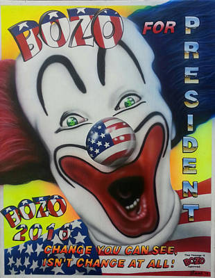 Bozo For Prezident Original by Brett Sauce