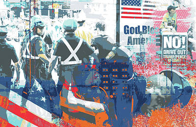 Boston Police Busted Art Print by Shay Culligan