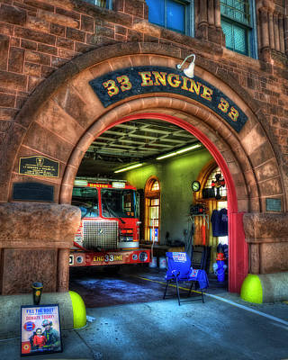 Photograph - Boston Fire Dept - Engine 33 Ladder 15 by Joann Vitali