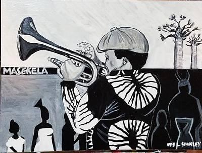 Painting - Bra Hugh Masekela by Otis L Stanley