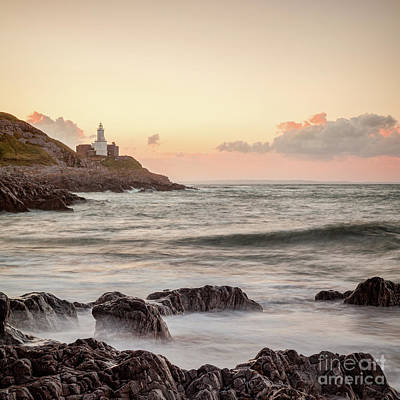 Bracelet Bay And The Mumbles Lighthouse Art Print by Colin and Linda McKie