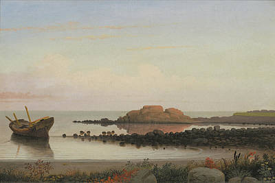 Painting - Braces Rock Eastern Point By Fitz Henry Lane 1864 by Fitz Henry Lane