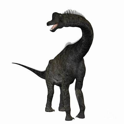 Triassic Painting - Brachiosaurus by Corey Ford
