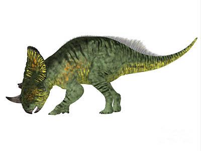 Montana Digital Art - Brachyceratops Dinosaur Side Profile by Corey Ford