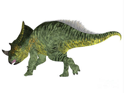 Montana Digital Art - Brachyceratops Dinosaur Tail by Corey Ford