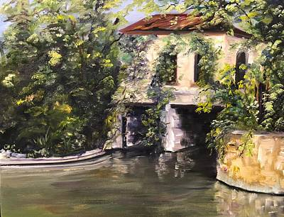 Painting - Brackenridge Park Pump House by Cheryl Damschen