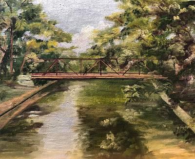 Painting - Brackenridge Train Bridge by Cheryl Damschen