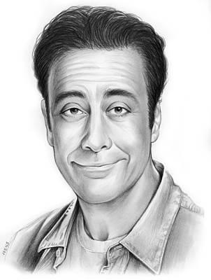 Celebrities Drawings - Brad Garrett by Greg Joens