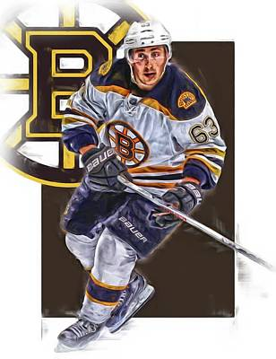 Boston Bruins Mixed Media - Brad Marchand Boston Bruins Oil Art by Joe Hamilton