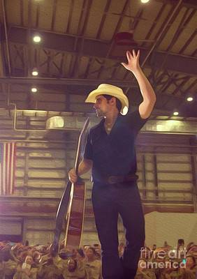 Musicians Royalty Free Images - Brad Paisley, Country Music Star Royalty-Free Image by Esoterica Art Agency